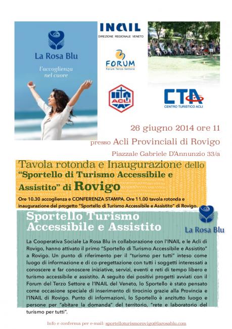 Conferenza stampa - inaugurazione Sportello Turismo Accessibile e Assistito Rosa Blu - Rovigo