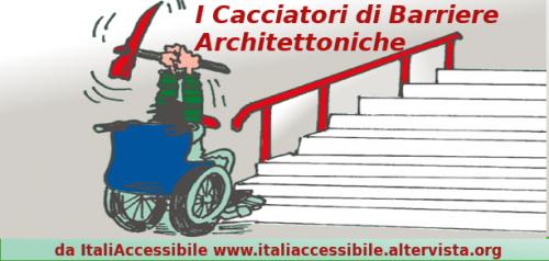 """cacciatoridibarriere italiaccessibile 500x238 - E tu sei pronto/a a diventare un """"Cacciatore di Barriere Architettoniche?"""