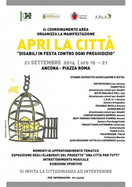 """apri la città ancona italiaccessibile3 457x650 - Ancona 21 settembre 2014 """"Disabili in festa contro ogni pregiuzio"""""""
