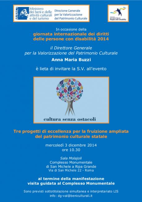 Invito 3 dicembre 2014