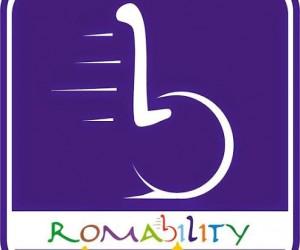 """romability Logo blu 300x250 - 13 Dicembre a Roma """"Roll your city"""" - Turismo e disabilità"""