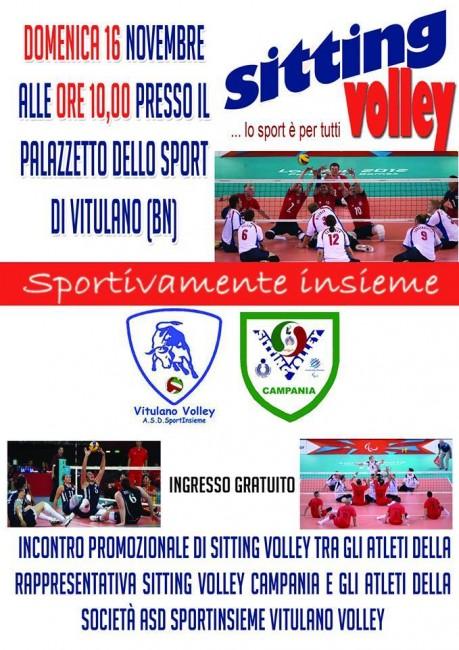sitting volley vitulano italiaccessibile 459x650 - Domenica 16 novembre incontro promozionale di Sitting Volley a Vitulano (BN)