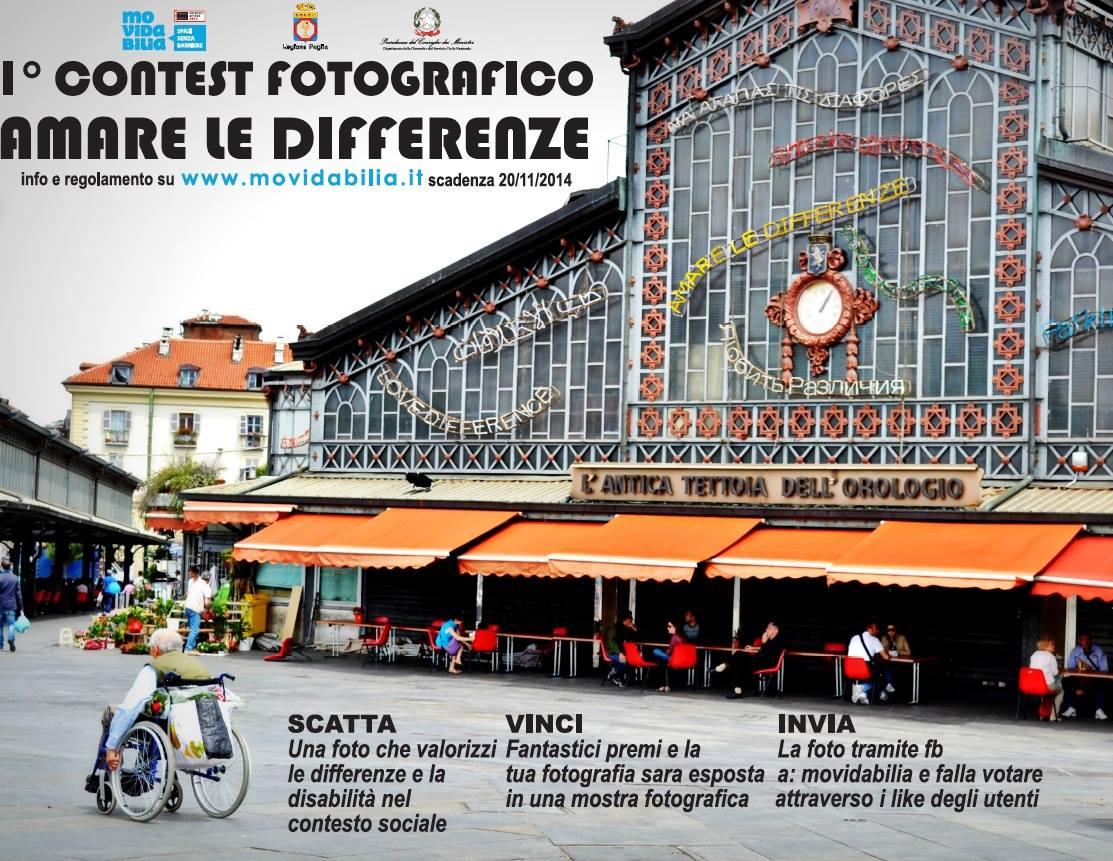 Dal 19 al 28 dicembre a Lecce il contest fotografico 'Amare le Differenze' indetto da Movidabilia.