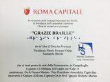 """grazie braille convegno campidoglio 160x120 - A Mantova il progetto """"L'Altro Sguardo"""" seminari formativi sull'accessibilità culturale per professionisti della cultura"""