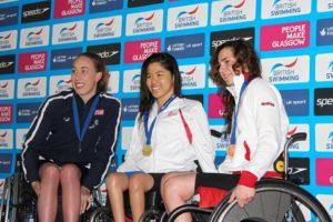 Podio Glasgow 300x200 - Nuoto Paralimpico, bronzo a Glasgow per Giulia Ghiretti e oro per Federico Morlacchi