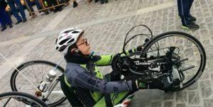 samuel marchese handbike 300x151 - Da Siracusa a Milano per l'Expo: la sfida di Samuel in Handbike
