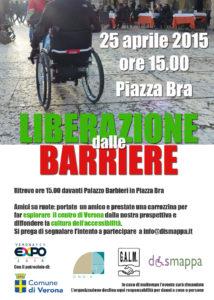 25 aprile liberiamo dalle barriere 214x300 - A Verona l'evento il 25 aprile Liberazione dalle Barriere