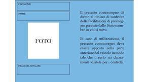"""Contrassegno Europeo Disabili retro italiaccessibile - Dal 15 settembre 2015 i possessori del """"vecchio"""" contrassegno disabili arancione, dovranno sostituirlo con il modello europeo"""