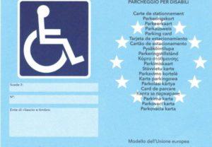 Nuovo Contrassegno disabili europeo