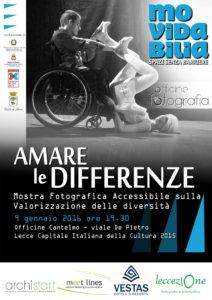 """locandina mostra pic of difference 212x300 - Movidabilia: II° edizione del contest fotografico """"Amare le Differenze"""". 9 gennaio a Lecce"""