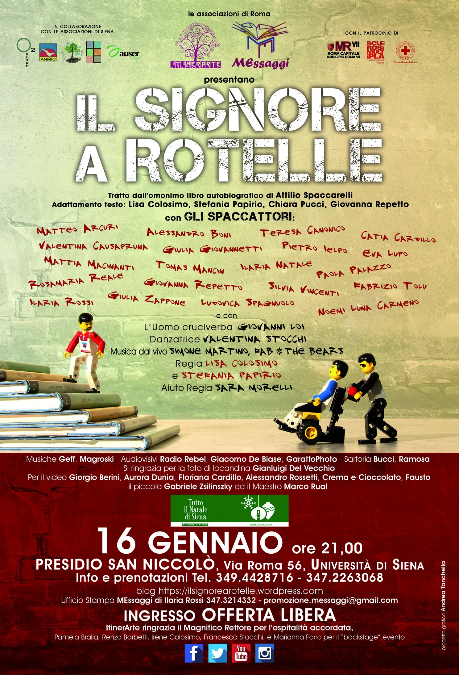 """""""Il Signore a Rotelle"""" in scena a Siena contro le barriere architettoniche e mentali"""