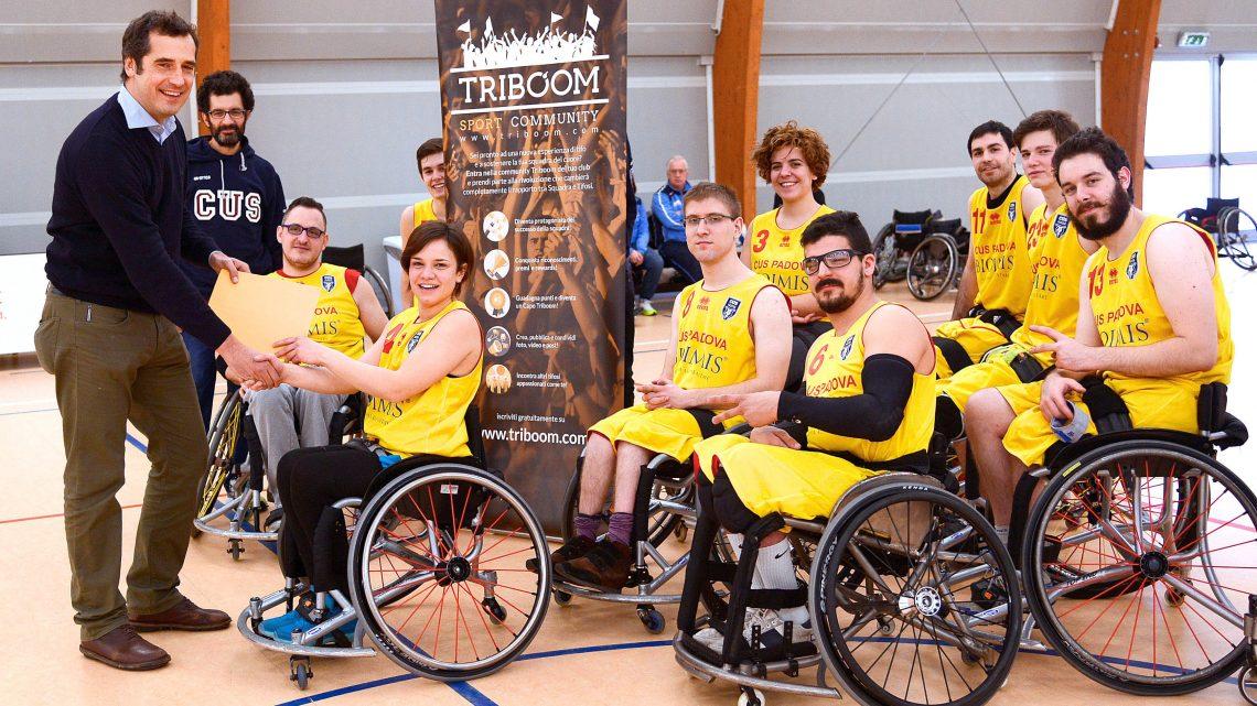 Basket disabili CUS Padova: 2 carrozzine finanziate con il crowdfunding Triboom