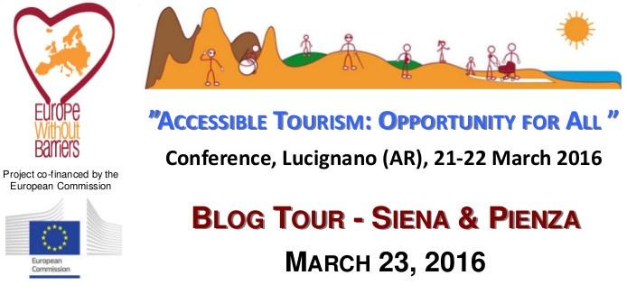 """Il Blog Tour """"Itinerari accessibili per Tutti"""" tra Siena e Pienza organizzato dall'Aism"""