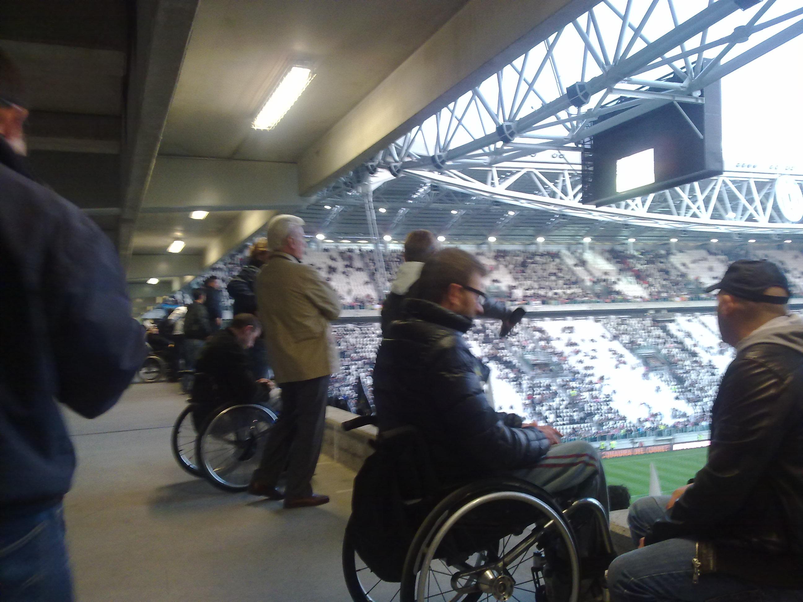Stadi Europei di Calcio 2016 accessibilità disabili