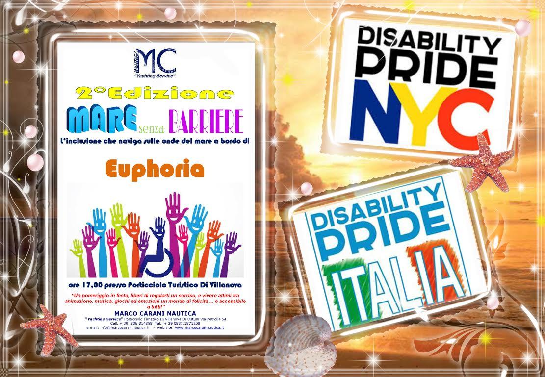 mare senza barriere villanova ostuni - Dal 8 al 10 Luglio Palermo e New York unite per il Disability Pride