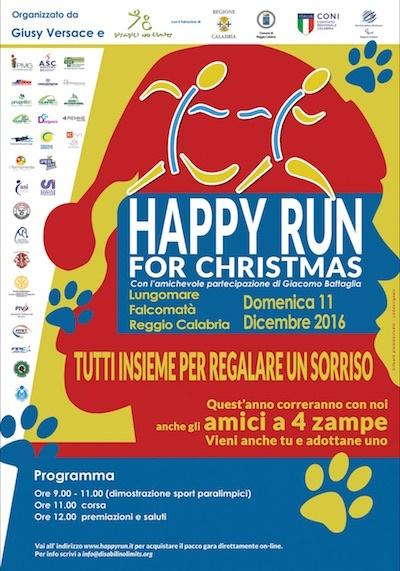 Locandina Happy Run2 - Giornata Internazionale delle Persone con Disabilità, i 17 obiettivi da raggiungere