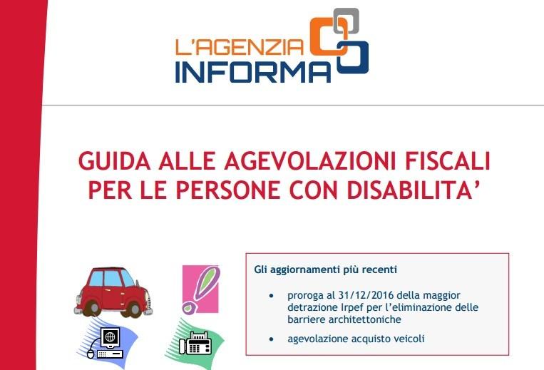 guida disabili agevolazioni fiscali - Dora una Voce per un Aiuto - Puntata del 12 febbraio 2017