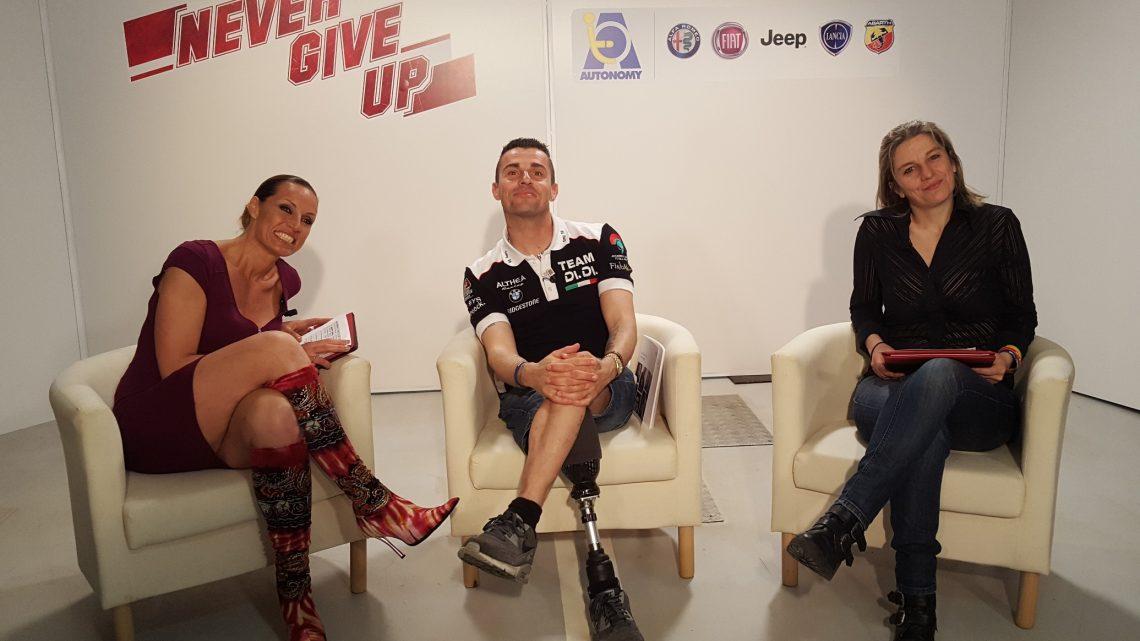 12 aprile la seconda stagione di Never Give Up,  programma televisivo dedicato agli sport paralimpici