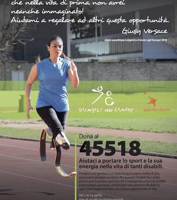 Giusy Versace : un SMS che può regalare un sogno sportivo ai ragazzi con disabilità