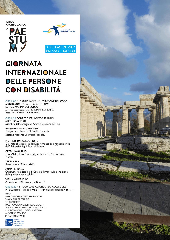 Paestum, domenica 3 dicembre 2017 : ingresso e iniziative gratuiti per tutti