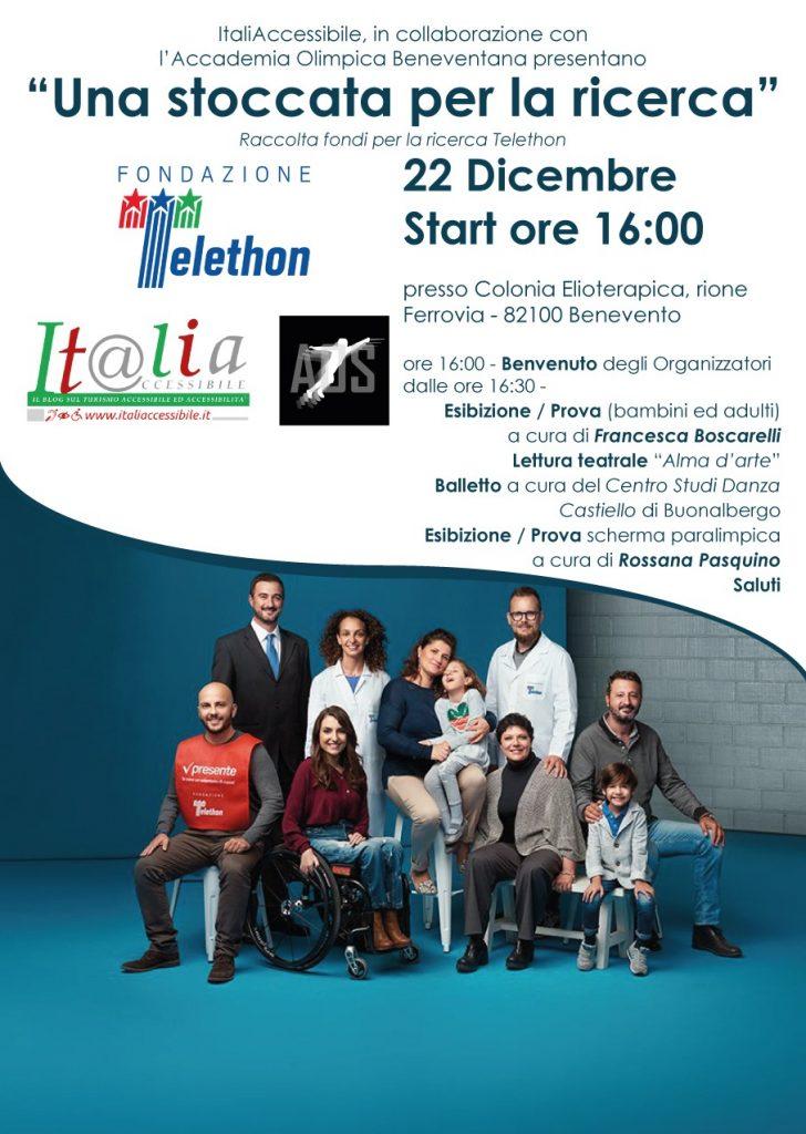 Telethon Benevento 728x1024 - 'Una stoccata per la ricerca' Telethon : il 22 dicembre raccolta fondi a Benevento