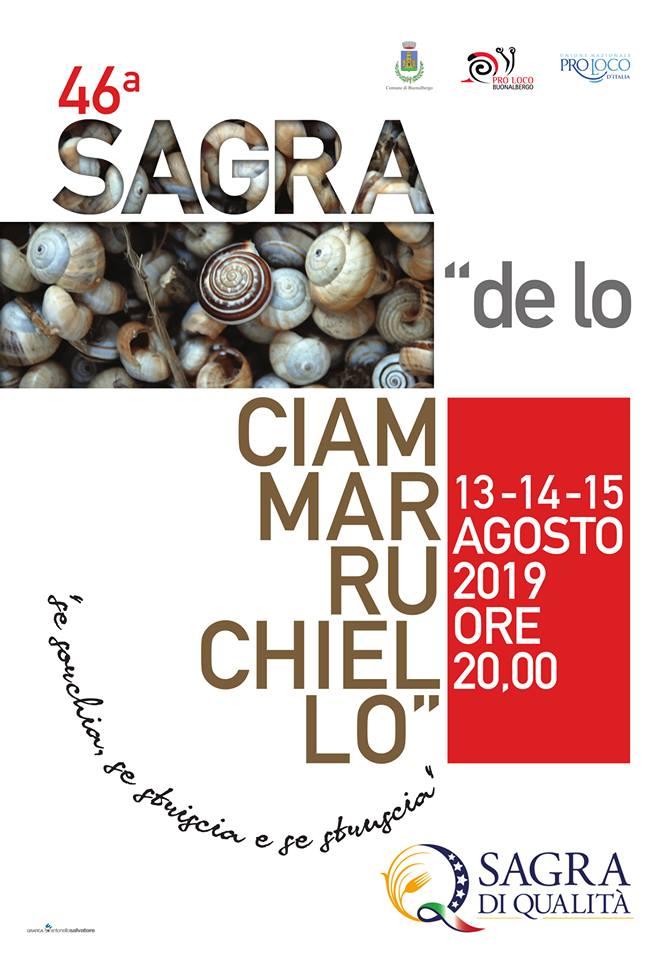 manifesto ciammarruchiello2019 - 46° Sagra de lo Ciammarruchiello a Buonalbergo accessibile a persone con disabilità motoria