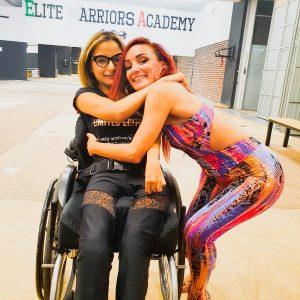 La ballerina con disabilità Federica Bambaci e Simona Buonanno