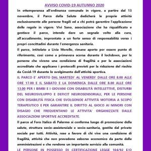 Nota del Parco della Salute di Palermo