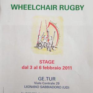 Locandina rugby in carrozzina