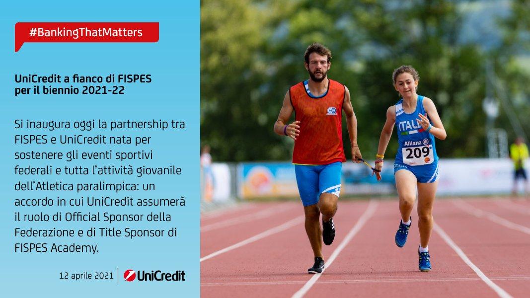 Atletica paralimpica Fispes: Unicredit al fianco della Federazione per il biennio 2021-22