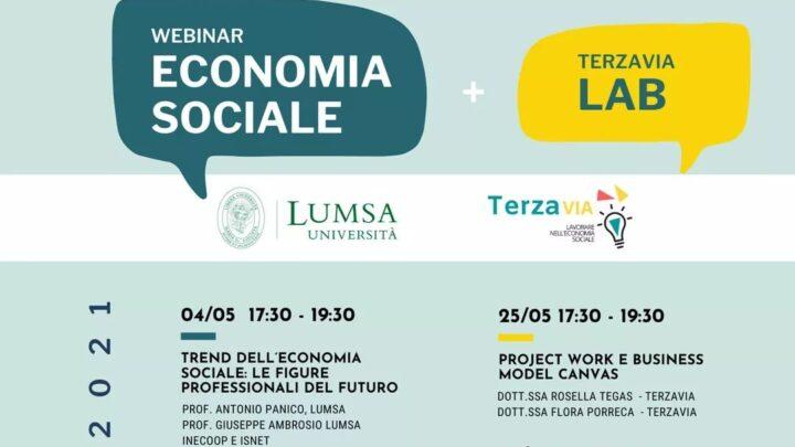 Terzavia e Lumsa: al via i corsi di formazione gratuiti con 10 incontri formativi sul tema dell'economia sociale