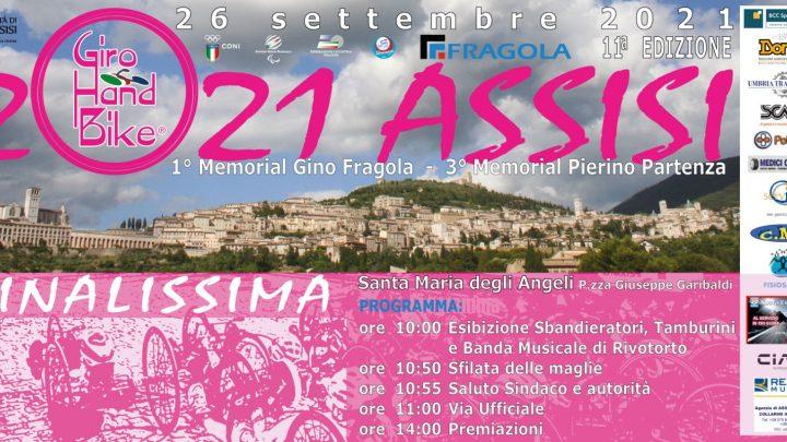 Giro Handbike 2021: la finalissima il prossimo 26 settembre ad Assisi
