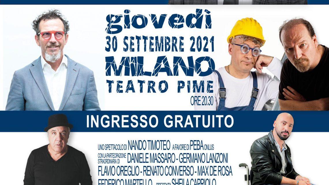 Music & Comedy font PEBA: il 30 settembre a Milano, lo spettacolo per abbattere le barriere architettoniche